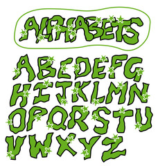Patrick's Day Alphabets lettering