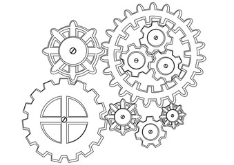 Clock Mechanism Outline Picture