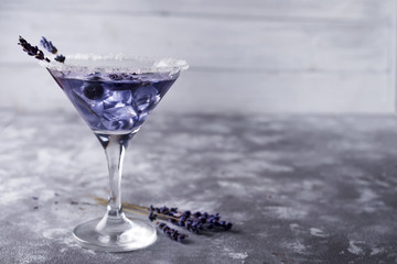 martini with berries