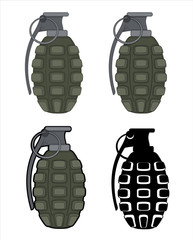 Hand Grenade Vectors
