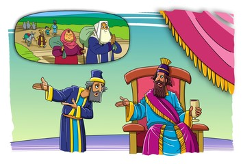 Nehemiah asks the king of Persia, to let the people of Israel come out of exile in the land of Israel