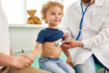 Smiling Little Boy at Medical Checkup