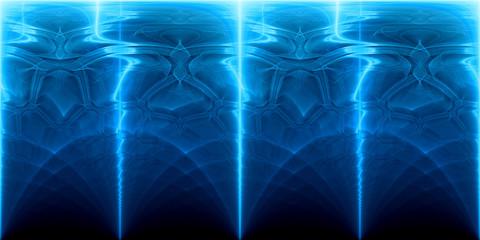Blue glowing plasma and futuristic technology panorama backrgound