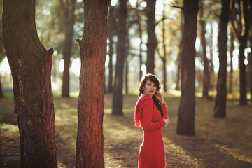 Girl red dress