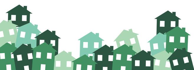 case, villaggio, città, case, abitazioni,