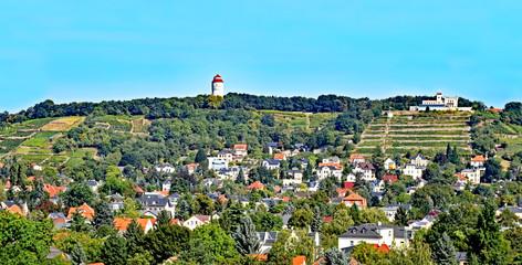 View over the village Altkötzschenbroda in Saxony, Germany