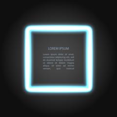 Vector neon frame