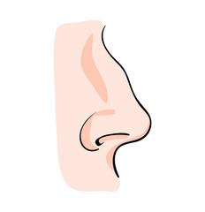 cartoon nose vector symbol icon design. Beautiful illustration isolated on white background