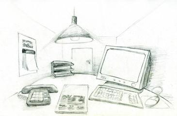 Schreibtisch im Büro