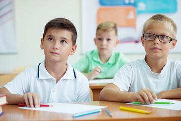 Portrait of children in school