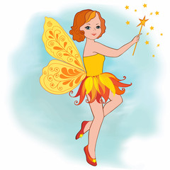 Illustration Yellow Fairy