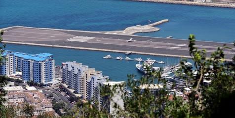 Aircraft on the runway at Gibraltar