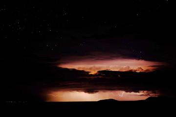 Lightning and stars