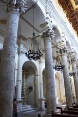 LECCE, ITALY - AUGUST 2, 2017: interior view of Basilica di Santa Croce, Lecce, Italy