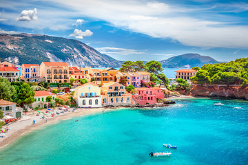 Assos village in Kefalonia, Greece Fototapete