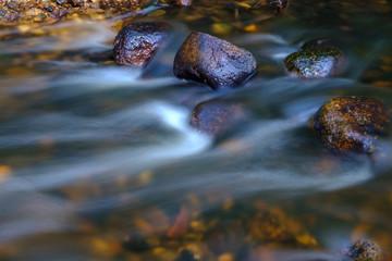Water stream flowing between rocks