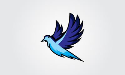 Flying Bird Illustration Logo