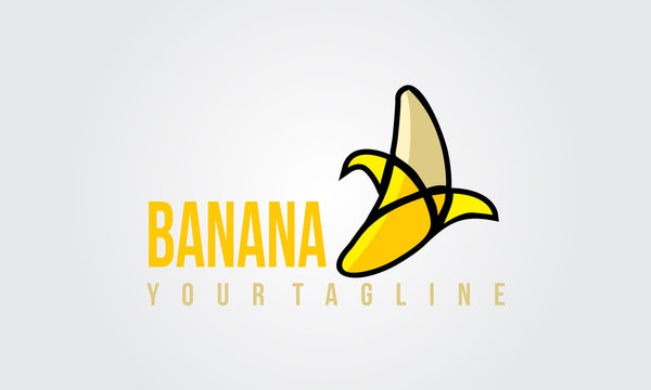 banana Illustration Logo