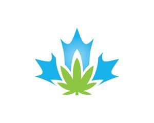 marijuana abstract logo