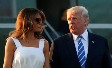 Trumps returns to Washington from New Jersey