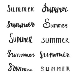 Summer quote. Brush pen handwritten lettering
