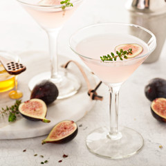 Pink fig and honey martini