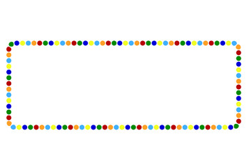 Frame - Various Color Dots