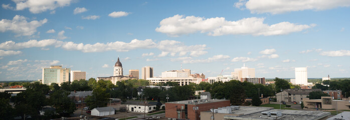 Topeka Kansas Capital Capitol Building Downtown City Skyline