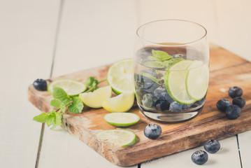 sweet blueberry lemonade