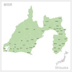 静岡県の地図