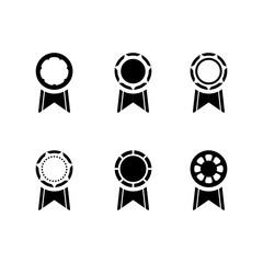 Medal icon set