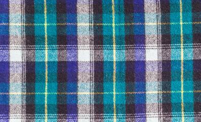 Texture of checkered woolen fabric