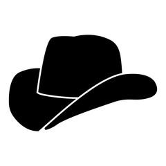 Cowboy hat black color icon .