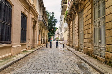 Street in the historical center of Havana, Cuba