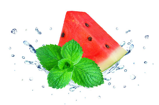Watermelon and mint splash