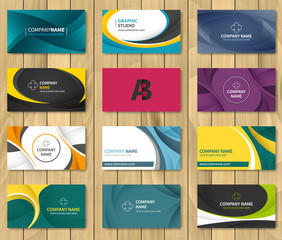 Set of corporate business card bundle.