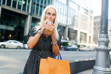 Photo of woman with drink