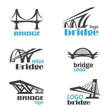 bridge symbol logo template collection