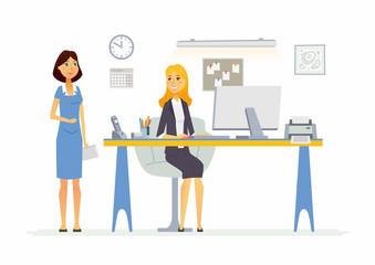 Office Scene - modern vector cartoon business characters illustration