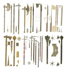 Weapons of the middle ages.