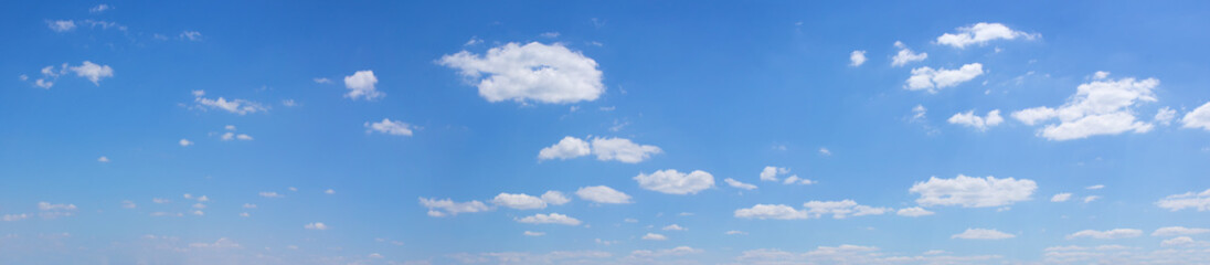 blue sky with white clouds panoramic photo
