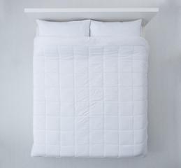 Elegant bed top view