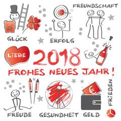 Frohe Weihnachten Und Ein Gutes Neues Jahr 2018 Schriftzug