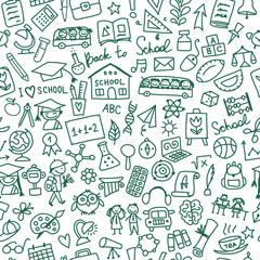 Back to school, seamless pattern for your design