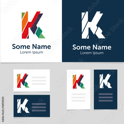 Editable business card template with k letter logoctor editable business card template with k letter logoctor illustrationeps10 wajeb Gallery