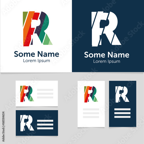 Editable business card template with r letter logoctor editable business card template with r letter logoctor illustrationeps10 wajeb Choice Image