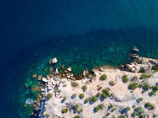 Wall Mural - Aerial view of mediterranean seashore