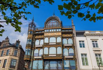 Foto op Canvas Brussel Brussels, Belgium - May 04, 2017: Musical Instruments Museum building
