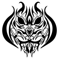 The stylized image of a tiger head Vector