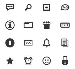 Forum interface icons set
